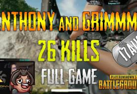 PUBG | Anthony and Grimmmz - 26 Kills | Aug 17 | Full game