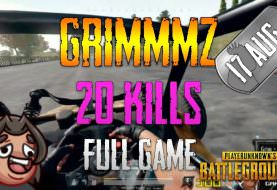 PUBG | Grimmmz - 20 Kills | Aug 17 | Full game