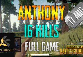 PUBG | Anthony - 16 Kills | Aug 17 | Full Game