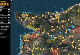 PUBG : Carte interactive