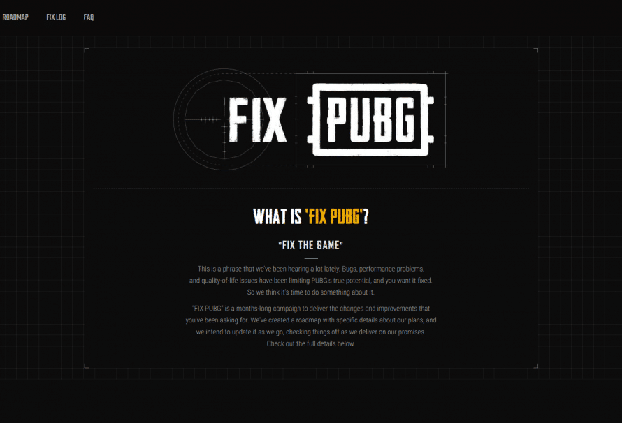 FIX PUBG, la nouvelle initiative de PUBG.Corp pour la correction de bugs