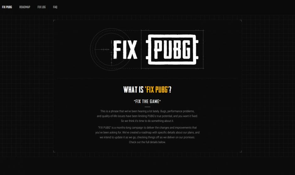 FIX PUBG, la nouvelle initiative de PUBG.Corp pour la correction de bugs